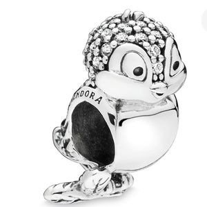 Pandora Snow White Bird Charm  Disney Silver